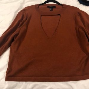 Forever 21 Sweaters - Forever 21 cropped sweater orange